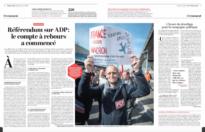 Référendum sur ADP : le compte à rebours a commencé
